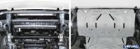 Защита радиатора Mitsubishi L200 V алюминий 4 мм