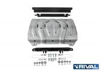 Защита радиатора Pajero Sport 3 QX алюминий 4 мм