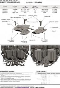 Алюминиевая защита топливного бака и редуктора ASX АСХ