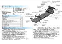 Защита РКП Pajero Sport 3 QX алюминий 4 мм