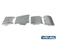 Комплект защит радиатор, картер, КПП и РК Pajero Sport 3 QX алюминий 4 мм