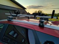 Велобагажник Lux Profi на крышу Mitsubishi Outlander 3 алюминиевый