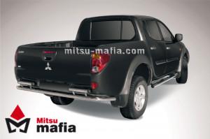 Защита заднего бампера d57 Mitsubishi L200 IV