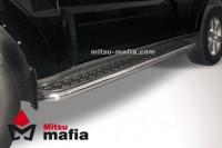 Пороги d57 с черным листом Mitsubishi Pajero 4