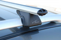 Багажник на рейлинги Pajero 4 аэродинамический Lux