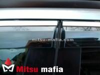 Дефлекторы окон с хром молдингом для Mitsubishi ASX