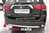 Накладка на задний бампер профилированная Outlander 3 2015-2020 Carbon