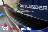 Карбоновая накладка на задний бампер Outlander 3 Аутлендер 3