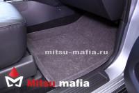 3D коврики в салон Pajero IV Паджеро 4 серые