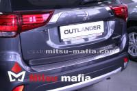 Накладка на задний бампер Outlander 3 2015-2020 удлиненная
