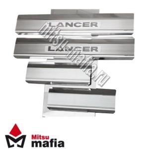Накладки на пороги Lancer X Лансер 10
