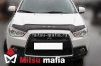 Дефлектор капота  Mitsubishi ASX длинный